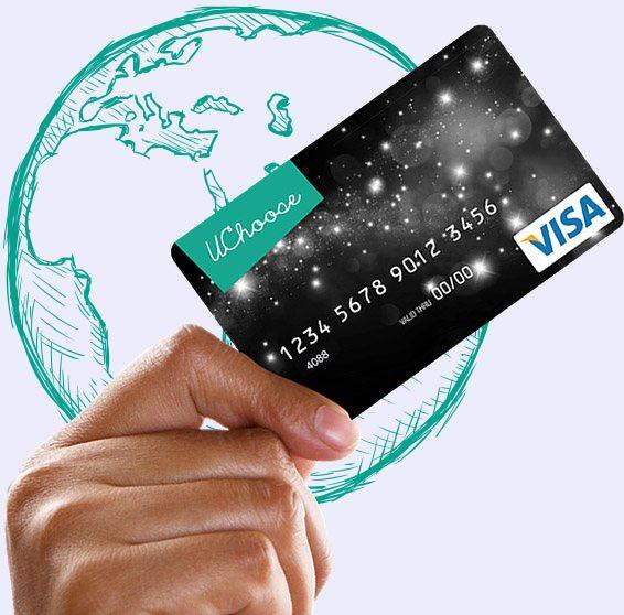 UChoose Visa Prepaid Gift Card